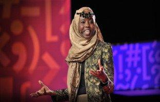 الناشطة الاجتماعية والشاعرة امتثال محمود المعروفة بإيمي محمود